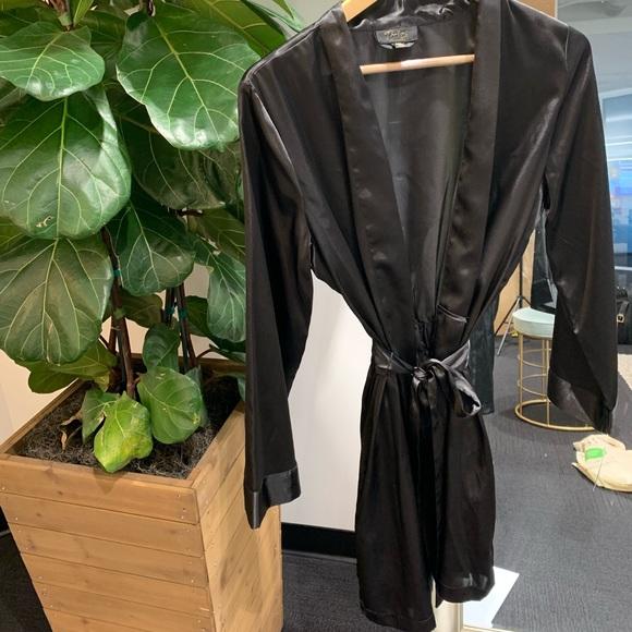 Macy's Other - Black Silky Robe